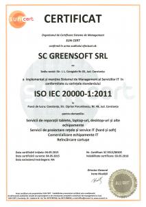 Certificare ISO IEC 20000-1:2011