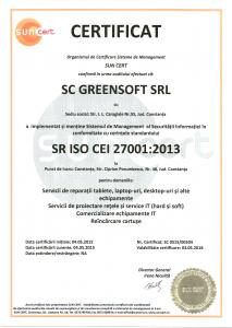 Certificare SR ISO CEI 27001:2016