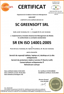 Certificare SR EN ISO 14001:2005