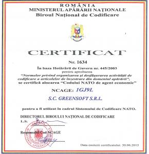Certificat Agent Economic NATO